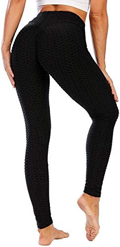 High Waist Yoga Pants Tummy Control Slimming Booty Leggings Workout Running Butt Lift Tights product image