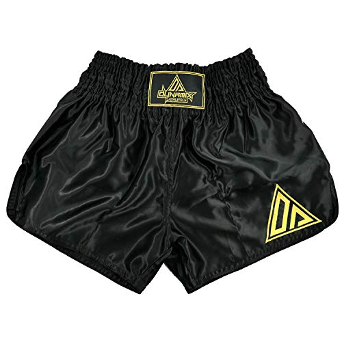 Dynamix Athletics Muay Thai Shorts Origin Schwarz/Gold - Traditionelle Klassische Thaibox Hose für Herren (L)