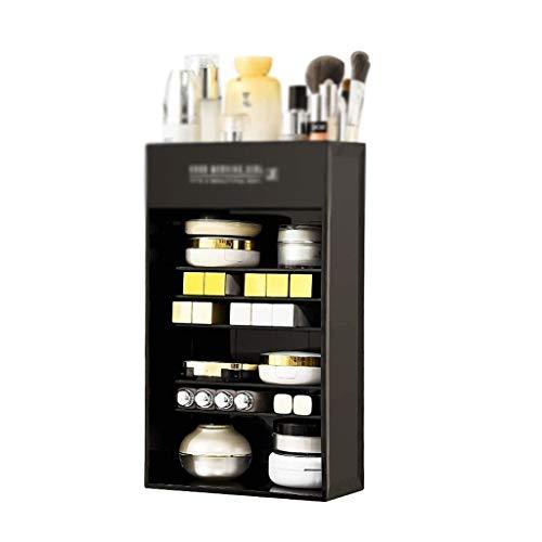 WYBFZTT-188 Caja de Almacenamiento cosmética, Caja de Almacenamiento de Escritorio Vertical de múltiples Capas, Productos para el Cuidado de la Piel, Caja de Maquillaje Dividida, Señoras,