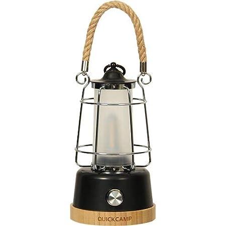 [クイックキャンプ] QUICKCAMP アンティーク風 LEDランタン メノーラ QC-LED370 キャンプ アウトドア インテリア 暖色 LED ランタン 充電式