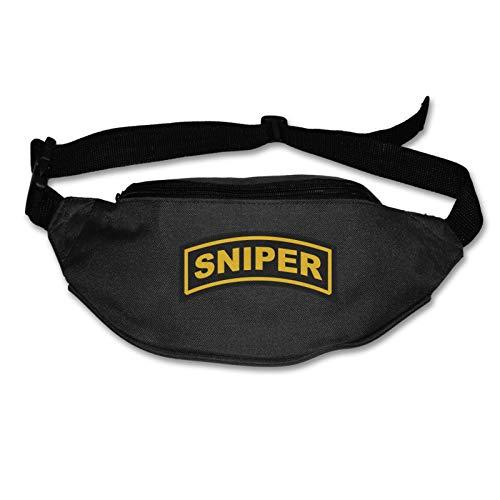 Tvox8x Us Army Sniper resistente al agua corredores cinturón cinturón de riñonera para hombres mujeres trotar senderismo fitness