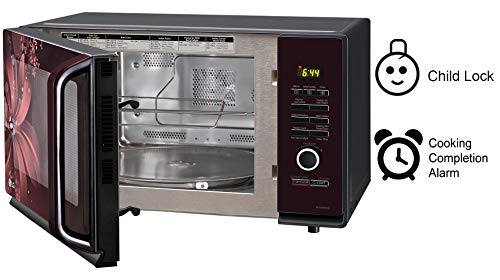 LG 32 L Convection Microwave Oven (MC3286BRUM, Black, With Starter Kit)