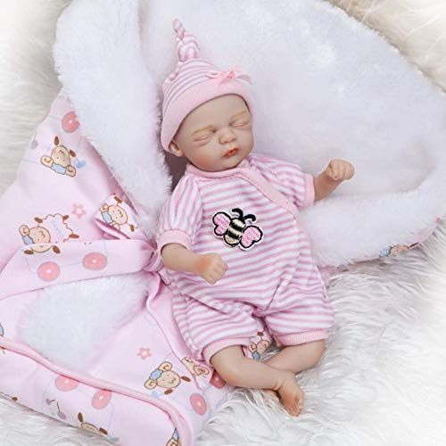 TERABITHIA Mini 8 Pulgadas 20 cm Raro Vivo Dormir Reborn Palm Dolls Little Honeybee Beautiful Dreamer Silicone Vinyl Baby Doll Muñeca