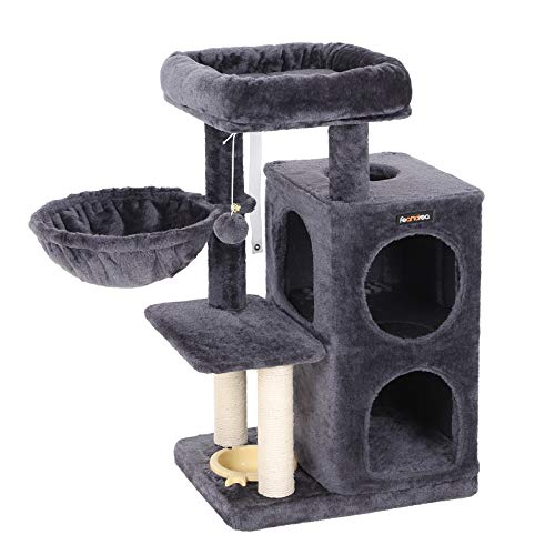 Multi-Level Cat Tree with Feeder Bow