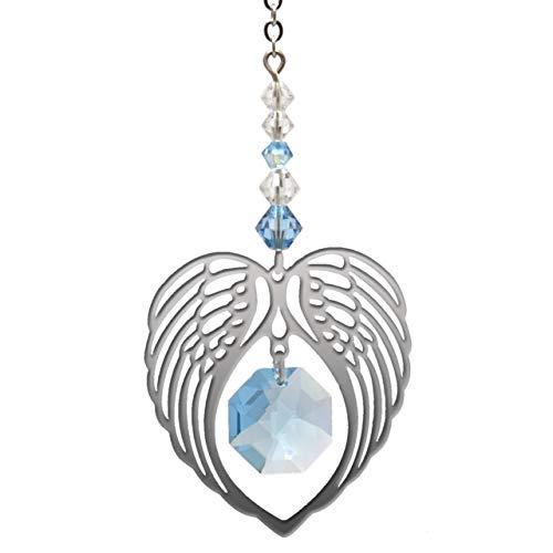 Wild Things Cœur d'ailes d'ange – Pierre de naissance de mars couleur aigue-marine – Embellissement de cristaux Swarovski®