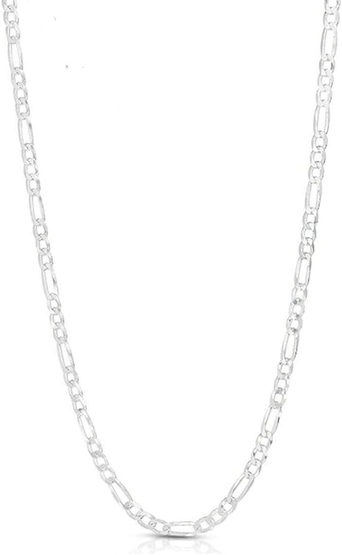 Authentic Italian Year-end gift 925 trend rank Figaro Chain Silver Sterling Necklace Link