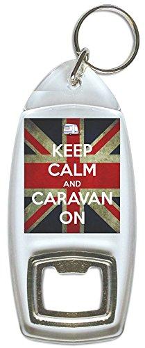 Keep Calm and Caravan – Flaschenöffner, Schlüsselring