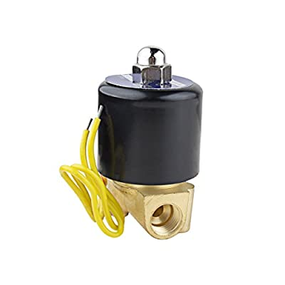 uxcell AC 110V Electric Solenoid Valve NPT 1/4 inches Normally Closed NC Direct Action for Water Air Gas Fuels by uxcell