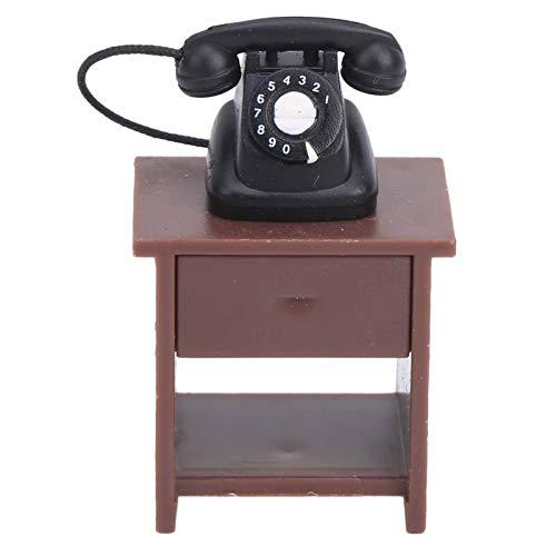 Gedourain Muebles de casa de muñecas, Bonitos Accesorios, Regalos Ideales, Hermosa y única máquina de Coser de diseño Antiguo para la decoración del hogar