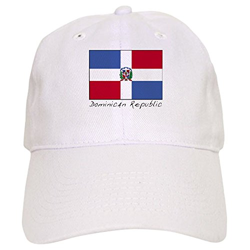 CafePress Dominican Republic (Flag) Baseball Cap with Adjustable Closure, Unique Printed Baseball Hat White