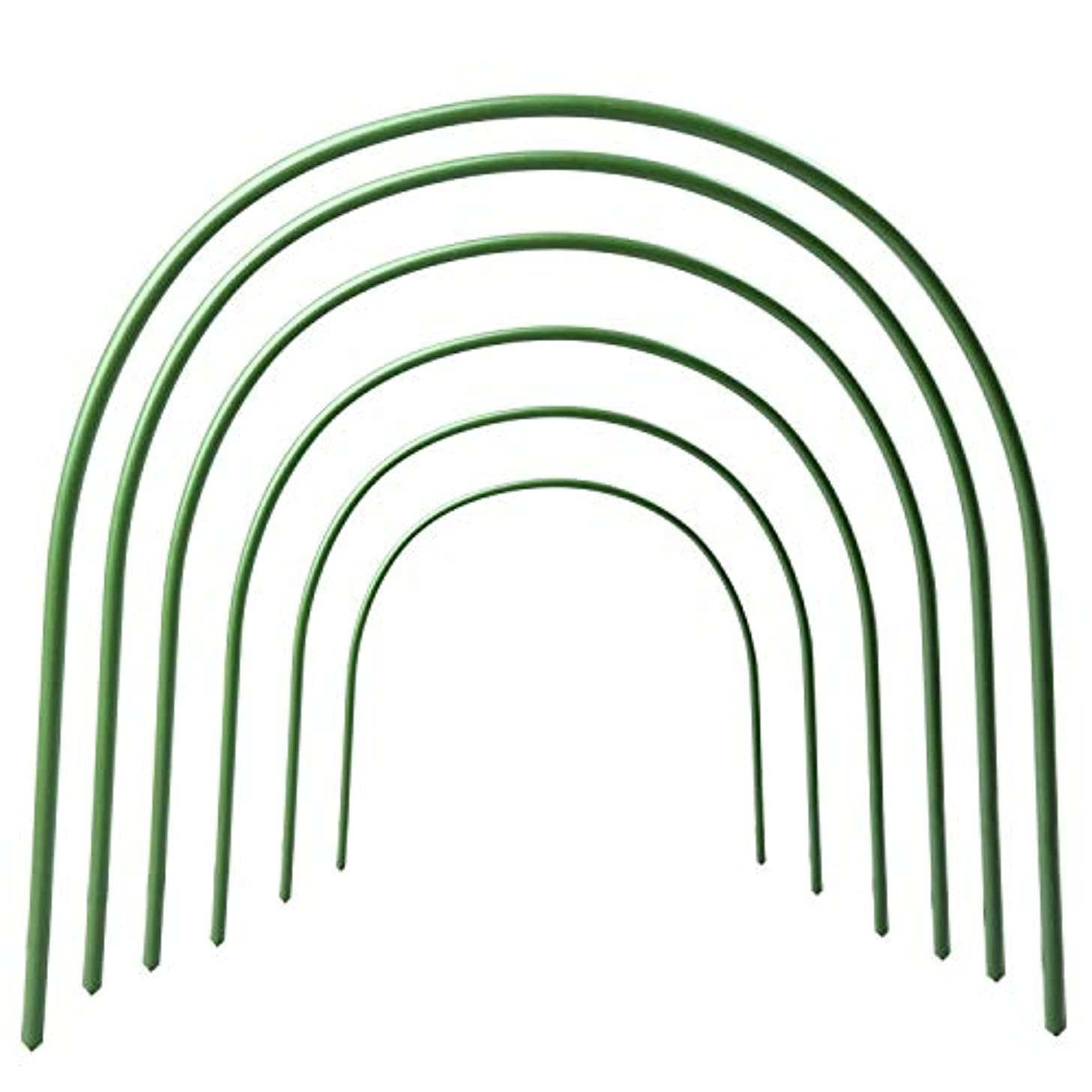 Greenhouse Hoops Rust-free Grow Tunnel 4ft Long Steel with Plastic Coated Support Hoops for Greenhouse, 6 Pack