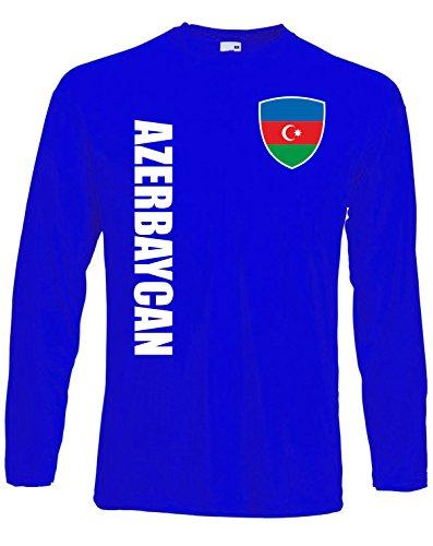 aprom Aserbaidschan Langarm T-Shirt Trikot LS-Spa Royal Longsleeve (2XL)