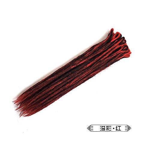MZP division Dreadlocks main 50 cm couleur mélange dreadlocks reggae dreadlocks tresses perruque cheveux tressés mâle et femelle hip-hop sale , mix red