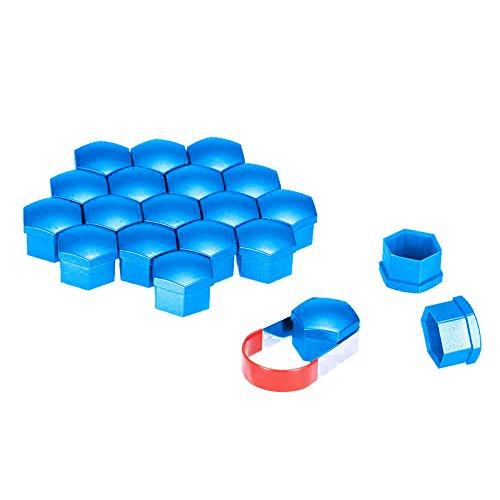 cherrypop 20 tapones de plástico para coche, 17 mm, llantas de aleación para Mercedes, color: azul