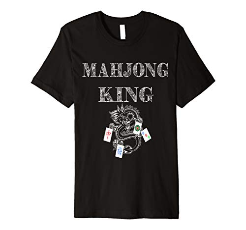 Mahjong King Chinese Game Set Mah Jongg Tiles Card Ma Jiang Premium T-Shirt