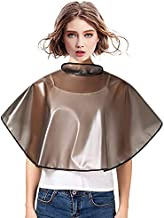 Professional Makeup Short Cape Waterproof Shampoo Adjustable Barber Hair Cape Dye Coloring Rebonding Cutting Hair Reusable PVC Hair Wet Styling Hairdresser Smock for Salon Hairdressing (Pack of 2)