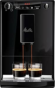 Melitta Caffeo Solo E950-222 - Cafetera Automática, Modo Doble Taza, Rápida y Potente, 1.2 Litros, Pure Black