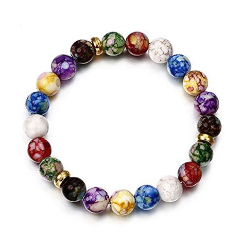 INSEET Hommes Femmes Huile Essentielle Bracelet Élastique Naturel Pierre Yoga Perles Bracelet Bracelet
