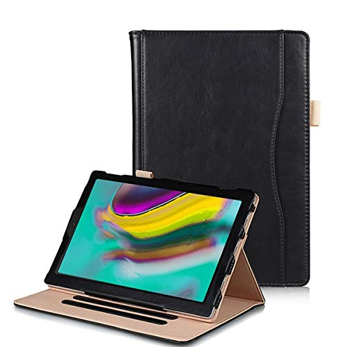 RZL PAD & TAB cases For Samsung Galaxy Tab S5E SM-T720 T725, Hand Holder Pocket Stand Case Tablet Cover for Galaxy Tab 10.5 2019 (Color : Black)
