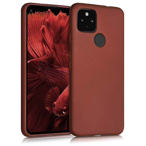 kwmobile Case kompatibel mit Google Pixel 4a 5G - Hülle Handy Metallic Rubinrot