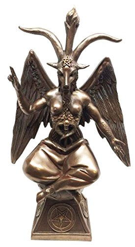 Estatueta de Bafomé de Presente Ebros A Cabra Sabbática Decorativa da igreja Satânica de 24,13 cm