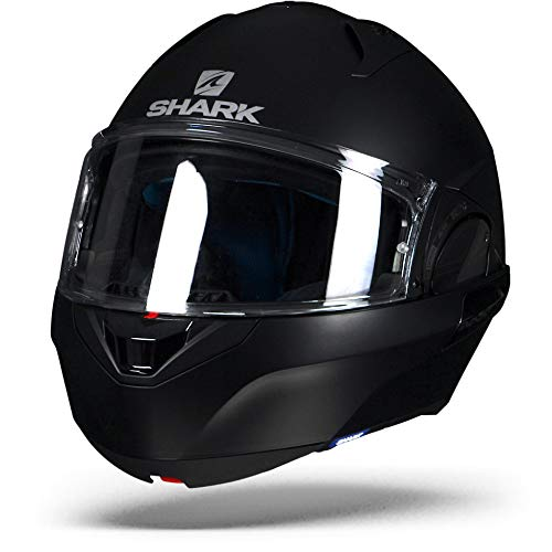 Shark Moto Casco de Hark-Evo One 2Blank Mat, Negro, Tamaño M