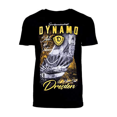 SG Dynamo Dresden T-Shirt Stolz des Ostens schwarz, Größe:M