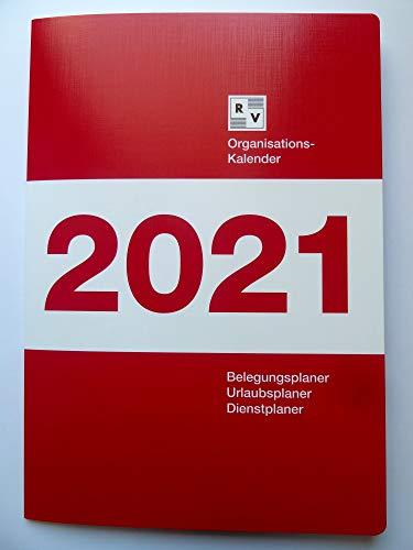 Organisationskalender 2021, Schafberger Verlag, Zimmerbelegungsplan, Belegungsplan, Urlaubsplan, Dienstplaner