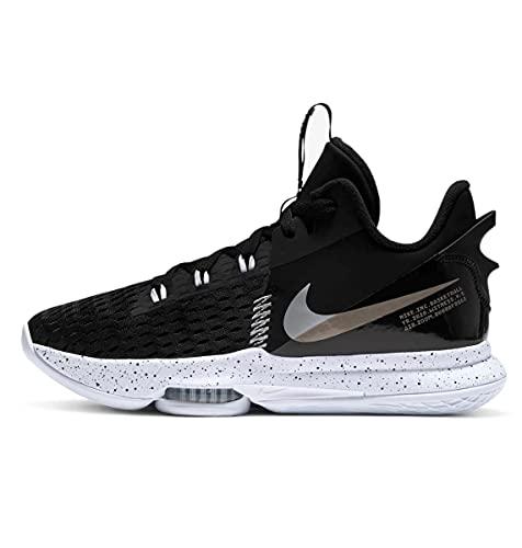 Nike Lebron Witness 5, Scarpe da Basket Unisex-Adulto, Summit White/University Gold-White-Wheat, 42.5 EU
