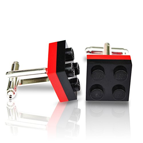 Gemelos hechos mano Lego® Platos negro rojo Boda