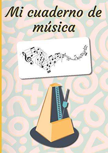 Mi cuaderno de música: Cuaderno de música   Libro de partituras  ...