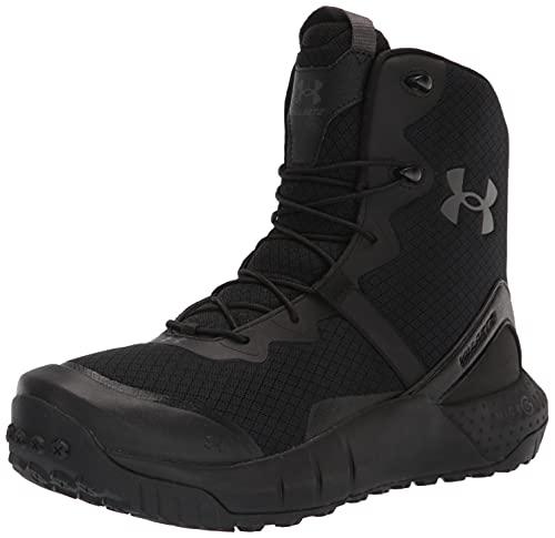 Under Armour Men's Micro G Valsetz Zip Military and Tactical Boot, Black (001)/Black, 10 M US