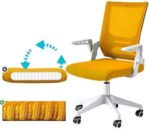 Elegante silla oficina, silla giratoria Silla de computadora con reposabrazos giratorios | Silla giratoria de la oficina ergonómica con la almohadilla de resorte mejorada | Ajuste de elevación | Fácil