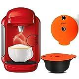 YOBENS NBM para cápsulas de café Recargables compatibles con la máquina BO-SCH Tassim O Reutilizable Coffee POD Crema Maker Ecológico (Farbe : 3pcs, Größe : 180ML)