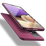X-level Funda para Samsung Galaxy A32 4G, Carcasa para Samsung A32 Suave TPU Gel Silicona Ultra Fina Anti-Arañazos y Protección a Bordes Funda Phone Case para Samsung Galaxy A32 4G - Vino Rojo