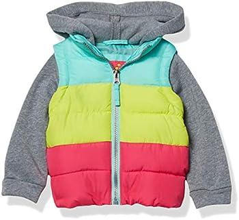 Pink Platinum Baby Girls' Midweight Vest 2fer Jacket (Rainbow)
