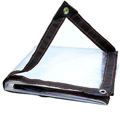 JX-PEP Lona transparente impermeable para cubiertas, lona transparente, cubierta de invernadero, resistente con ojales para exteriores, tienda de campaña, toldo de plástico, 5 x 10 m