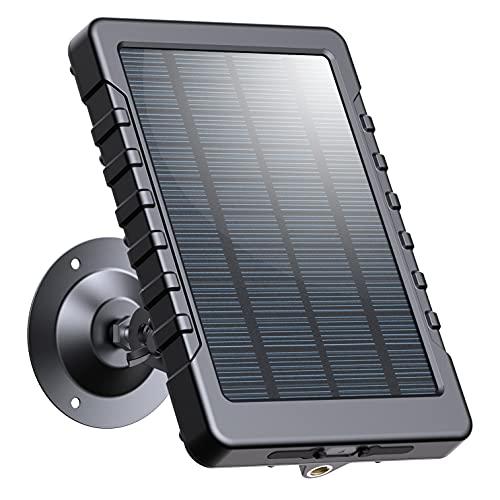 Campark Trail Camera Solar Panel DC 6V/3000mAh Solar Power Bank Portable Charger IP56 Waterproof