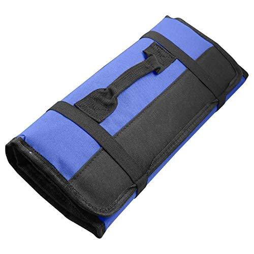 Tool Bag,CinturóN Para Herramientas Bolsas de rollo plegable para herramientas para herramientas Multifunción Bolsas de herramientas prácticas Llevar manijas Oxford Canvas Chisel Tool Case
