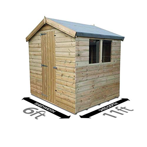 Total Sheds 11ft (3.3m) x 6ft (1.8m) Shed Apex Shed Garden Shed Timber Shed