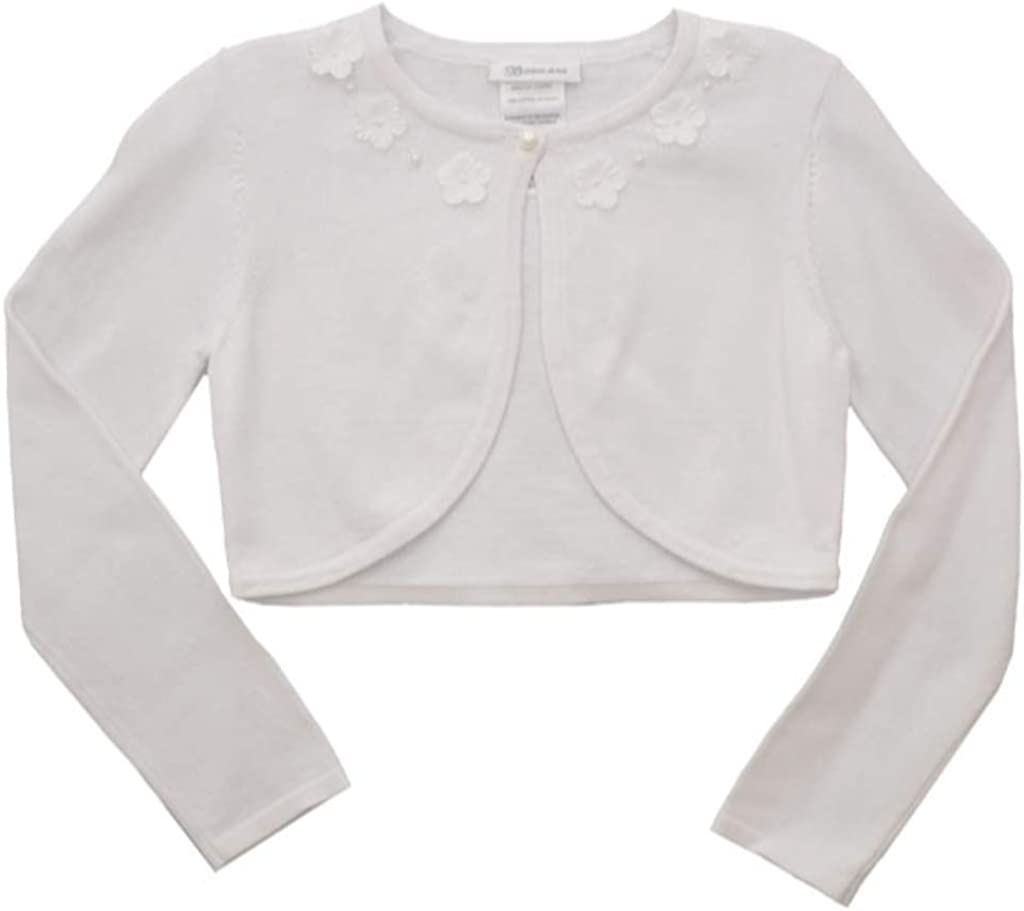 Bonnie Jean Girl's Long Sleeve Sweater Cardigan, for Toddler, Little and Big Girls