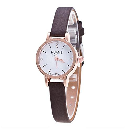 Neueste! Armbanduhr Damen Einfach Stil Geschenk Armband dekor Studentenuhr Analoge Quarz Uhr Women Watches LEEDY
