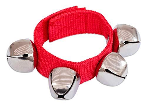 Betzold Musik Armglockenband mit 4 Glocken Glockenband Musik Geräusche Kinder Schellen Schellenband Glockenarmband Schellenarmband