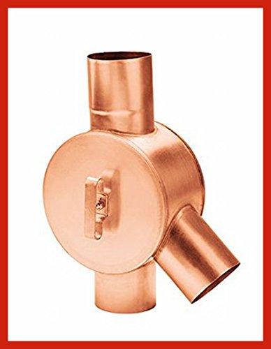 Regenwasserverteiler Kupfer rechts in den Größen 80 und 100 mm (80 mm)