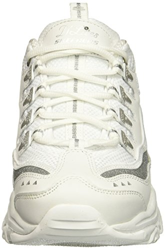 Skechers 11923, Zapatillas para Mujer, Blanco (Silver/Blanco), 37 EU