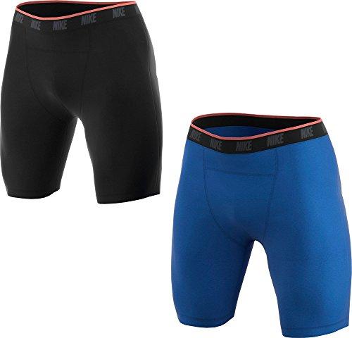 NIKE M NK Brief Boxer 2PK Ropa Interior (2 Pares), Hombre, Negro/Azul (Black/Game Royal), 2XL