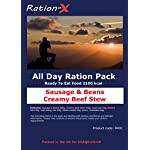 Ration-X All Day Ration Pack 2100 kcal Ready to Eat Wet Meals Plus Snacks Menu 1 Creamy Beef Stew + Sausage & Beans… 3