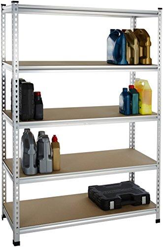AmazonBasics AMBS05 Shelving, 48 x 18 x 72, Aluminum