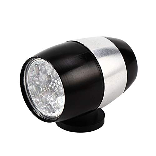 Bicicleta luz Delantera Montar LED Luz de Advertencia de aleación de Aluminio de Ajuste de Brillo de la lámpara Durable (Color : Black)