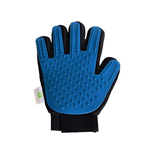 Naturasan Haustier Bürsten-Handschuh - Der unverzichtbare Profi-Fellpflege Handschuh - Sehr Effektive Enthaarung Fell-Bürste für Haustiere, Hunde und Katzen-Haar